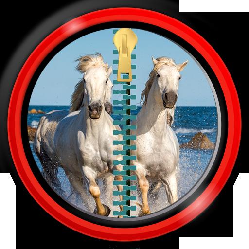 bloqueo-de-la-pantalla-de-la-cremallera-caballos