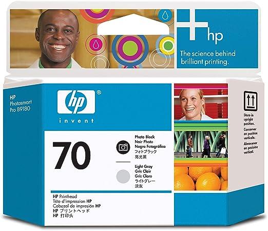 HP 70 Tête d'impression d'origine Photo Noire et Gris clair