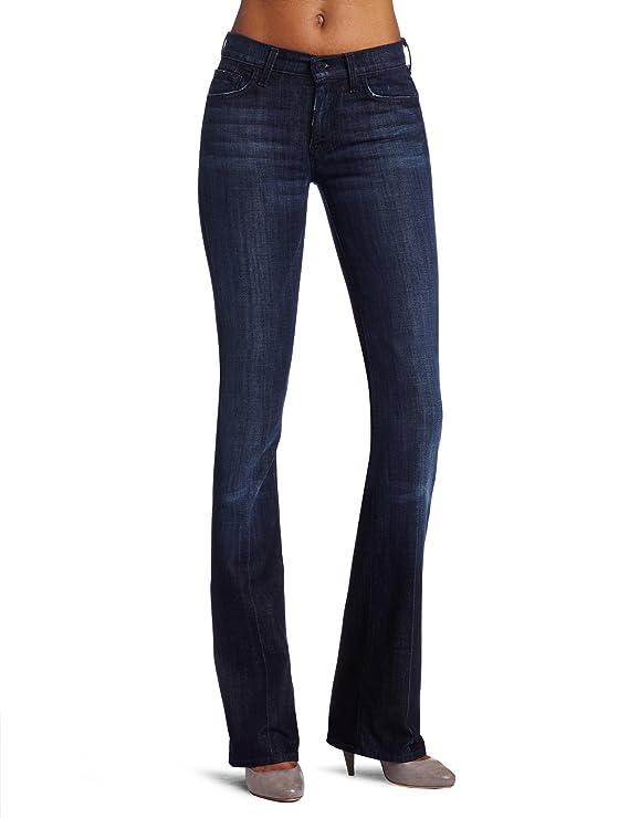 7 For All Mankind Women's High-Waist Boot Cut Jean in Los Angeles Dark