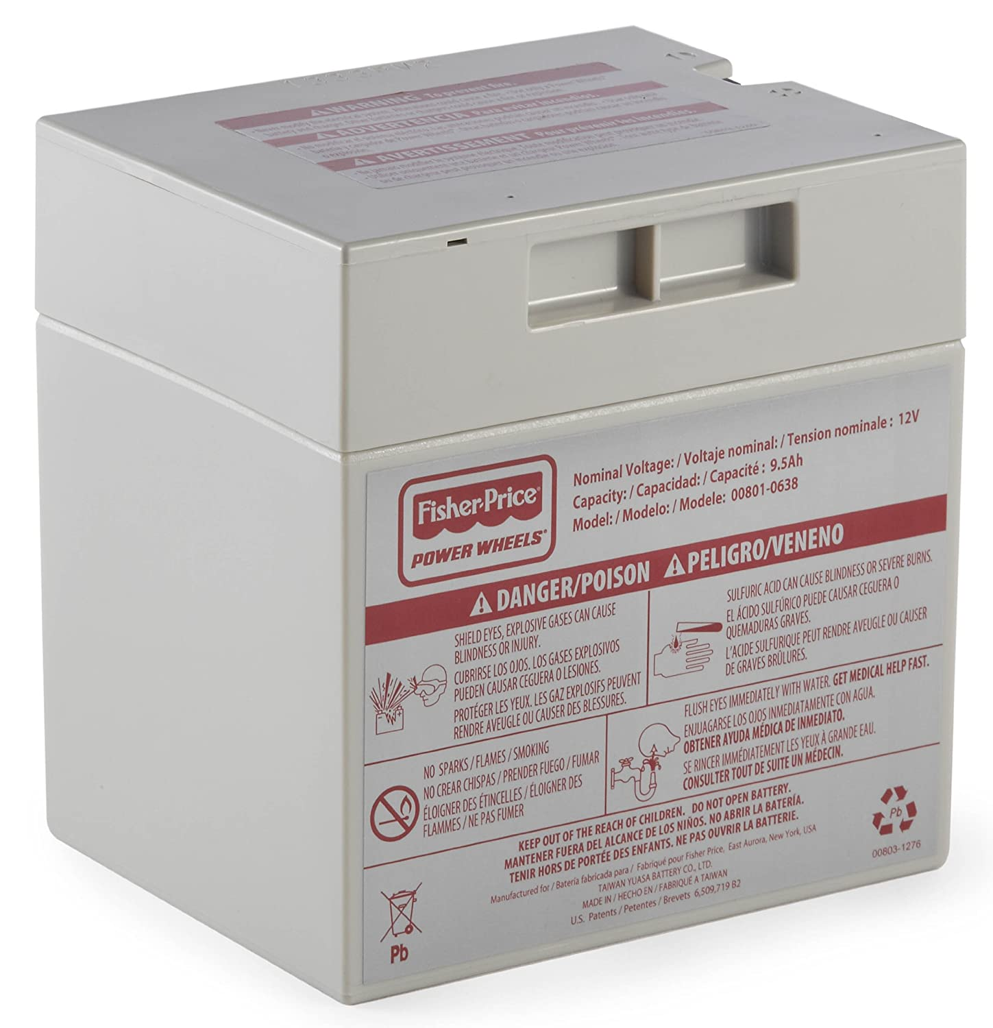 Power Wheels 12-Volt Rechargeable Battery