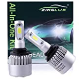 ZX2 9006 HB4 8000LM LED Low Beam Headlight Conversion Kit,Fog Driving Light,for Replacing Halogen Headlamp All-in-One Conversion Kits,COB Technology,6500K Xenon White, 1 Pair with 1 Year Warranty (Tamaño: 9006 9006XS HB4)