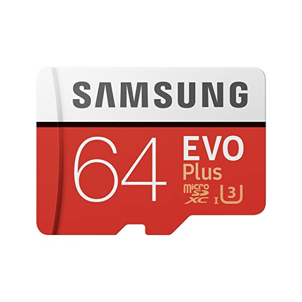Samsung  64GB MicroSDXC EVO Plus Memory Card w/ Adapter (MB-MC64GA) (Color: Multi, Tamaño: 1 pack)