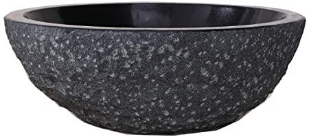 Virtu USA VST-2101-BAS Melia Vessel Sink with Natural Shanxi Black Granite