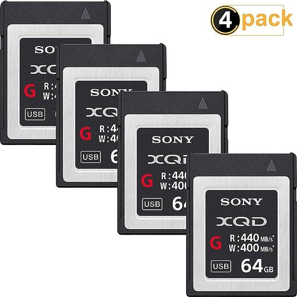 Sony Professional XQD G Series 64GB Memory Card (QDG64E/J) (4-Pack)