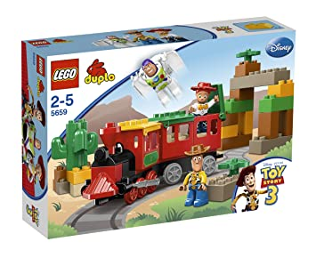 LEGO - 5659 - Jeux de construction - LEGO DUPLO toy story - La poursuite en train