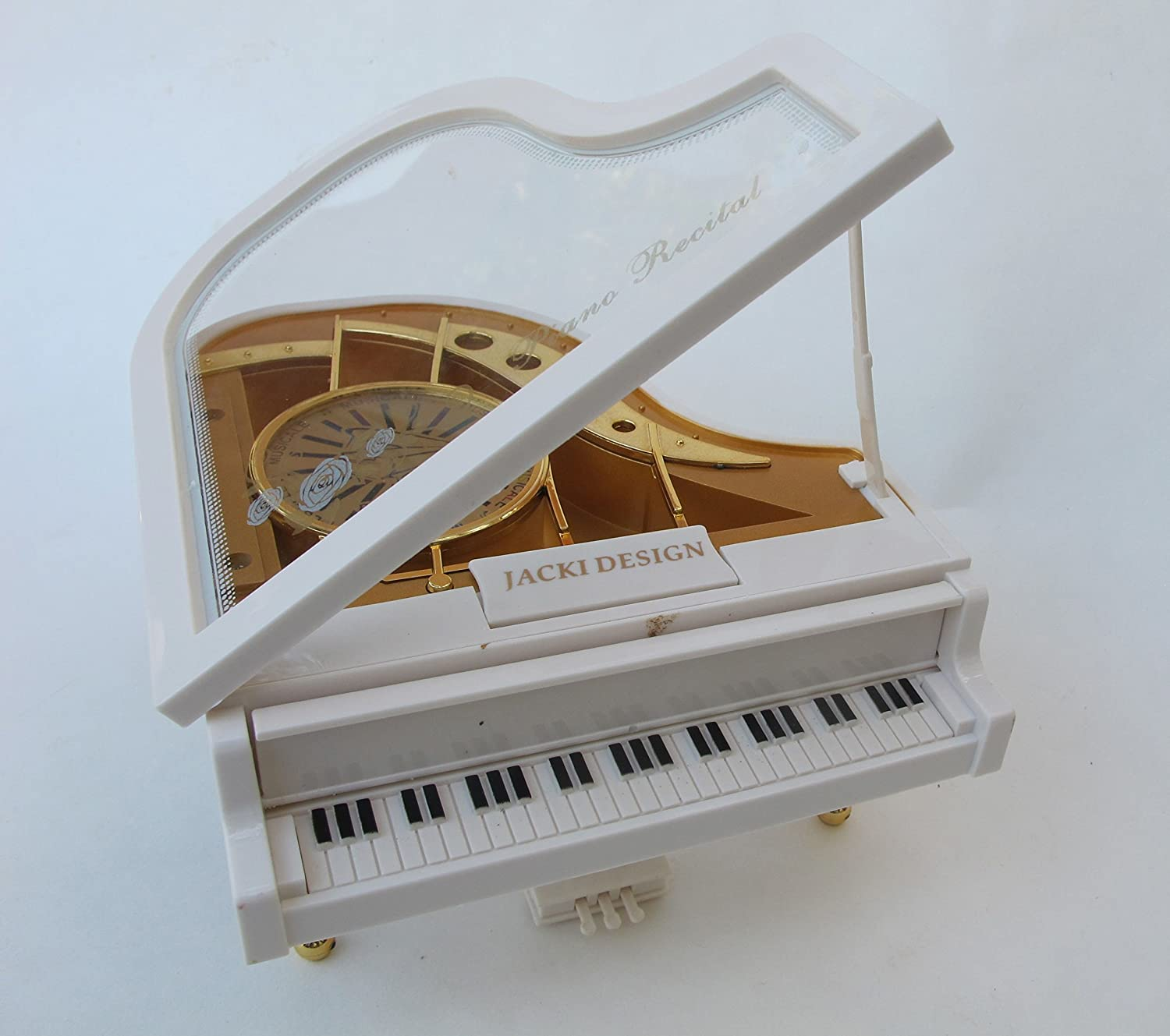 CHRISTMAS GIFT,Holiday Gift,Piano Ballerina Music Box, Father, Grandfather, Mom, Grandma, Birthday gift, Music, White Piano Ballerina Music Box