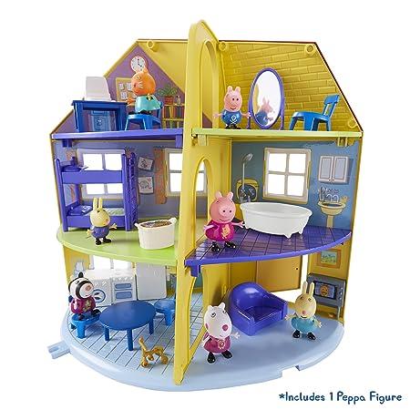 Peppa Pig – La Maison Familiale – Décor + 1 Mini Figurine 5 cm