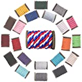 FMS Natural Twisted Cotton Rope Ravenox | (Red, Snow White & Royal Blue)(1/4