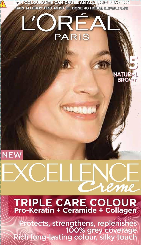 Buy L'Oreal Paris Excellence Creme, Natural Brown 05 (72ml+100g ...