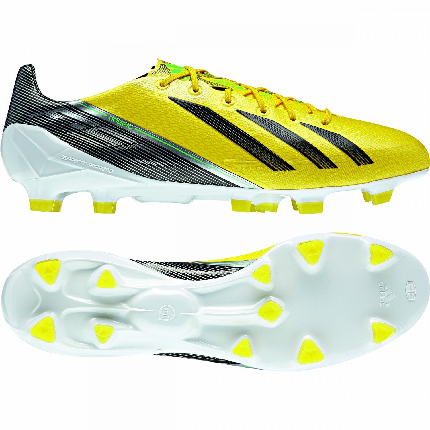 adidas Adizero F50 TRX FG Synthetic Soccer Cleats (Vivid Yellow, Black, Green Zest) adidas performance men s predito instinct fg soccer shoe