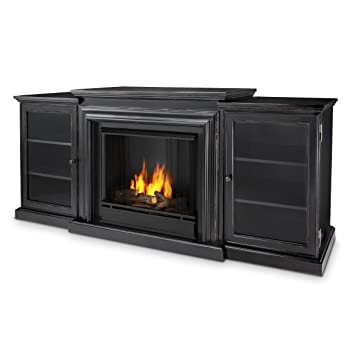 Real Flame Frederick Entertainment Center Ventless Gel Fireplace White