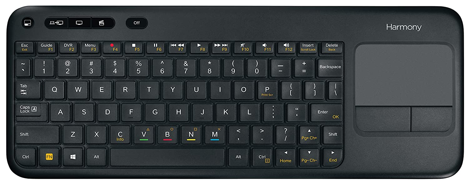 Logitech Harmony Smart Keyboard Add-On for Harmony Ultimate Hub Remotes (915-000241)