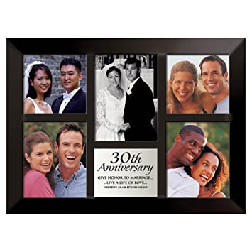30th wedding anniversary collage picture frame give honor to marriage lcp