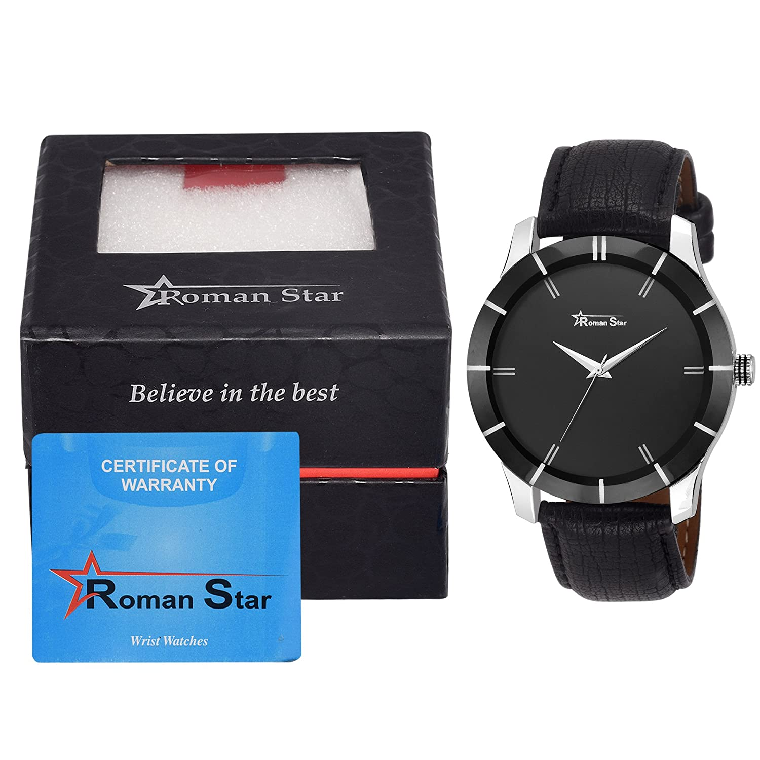 Wrist watch price in oman - Buy Roman Star Men S N_1134 Multicoloured With Multicolor Leather Strap Analog Quartz Watch Online At Low Prices In India Amazon In