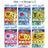 Gift Expressions 5 Sets of 6 Designs ( 30 Pcs) Colorloon Form Cray Paint Colors On The Balloon Kidscrafts School Art Craft (Sea Life, 5 Sets) (Color: Sea Life, Tamaño: 5 Sets)