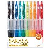 Zebra Sarasa Clip 0.3, 10 Color Set (JJH15-10CA) (Tamaño: 10 Color)