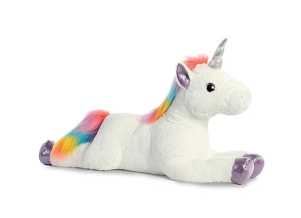 Aurora World Super Flopsie Plush Toy Animal, Rainbow Unicorn Super (Color: Rainbow Unicorn Super, Tamaño: Large)