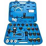 8MILELAKE 28pcs Universal Radiator Pressure Tester and Vacuum Type Cooling System Kit (Color: Blue)