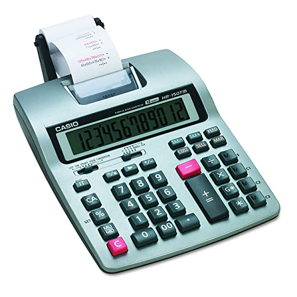 Casio HR-150TMPlus Business Calculator (Color: Silver, Tamaño: 7 x 11 1/2)