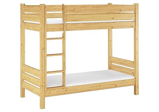 60.16–09M équipe de lit superposé pour adulte 90x 200, 100cm, avec 2sommiers Roll U 2matelas