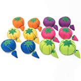 Dritz 11024 Baby Tomato Pin Cushion, 2-Inch, Assorted Colors, 12 Count (Color: Assorted Colors, Tamaño: 2-Inch)