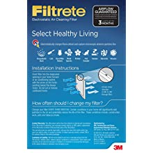 Filtrete Select Healthy Living Filter, 16-Inch by 25-Inch by 1-Inch, 6-Pack
