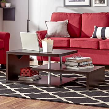Modern Coffee Table with Storage - Contemporary Design Wooden Eco Friendy Latest Stylish Design with Awesome Storage Shelves - Unique Cool and Easy to Put Together - Be Different and Get This Table for Sale - Satisfaction Guranteed