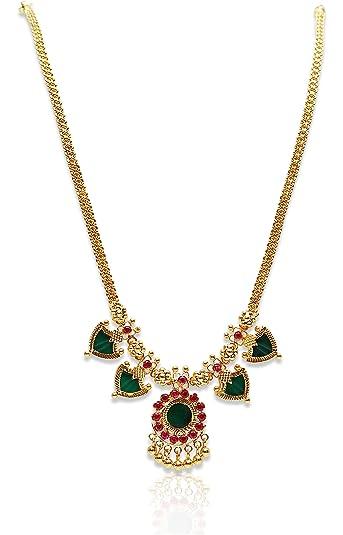 Buy Kollam Supreme Gold Brass Choker Necklace for Women