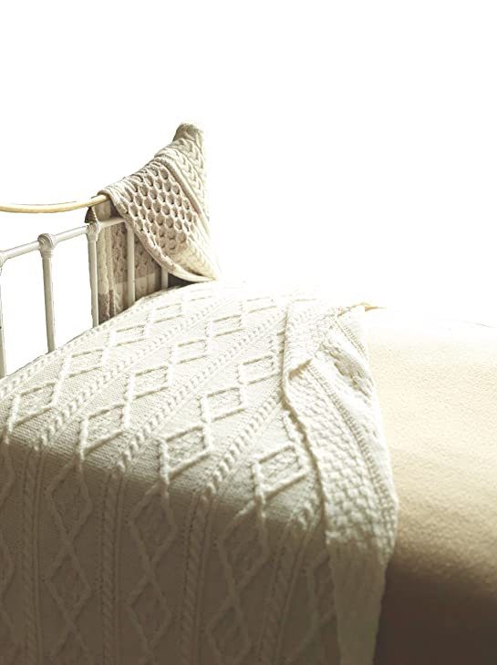 100 irish merino wool cream wool blanket by carraig donn