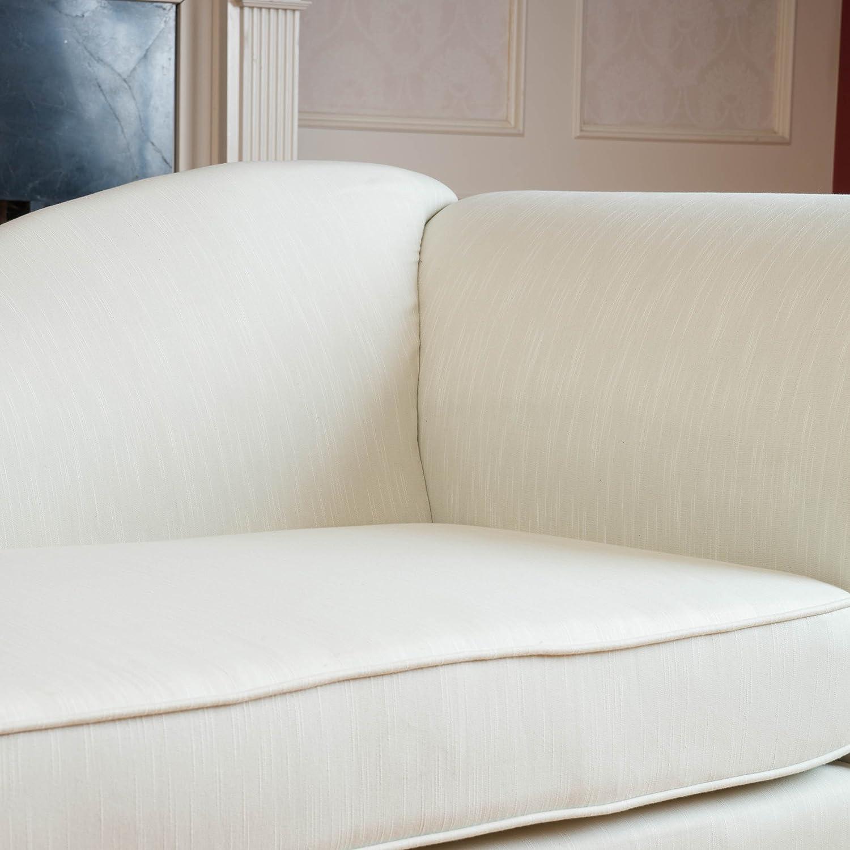 Cleopatra Ivory Chaise Lounge Sofa Loveseat