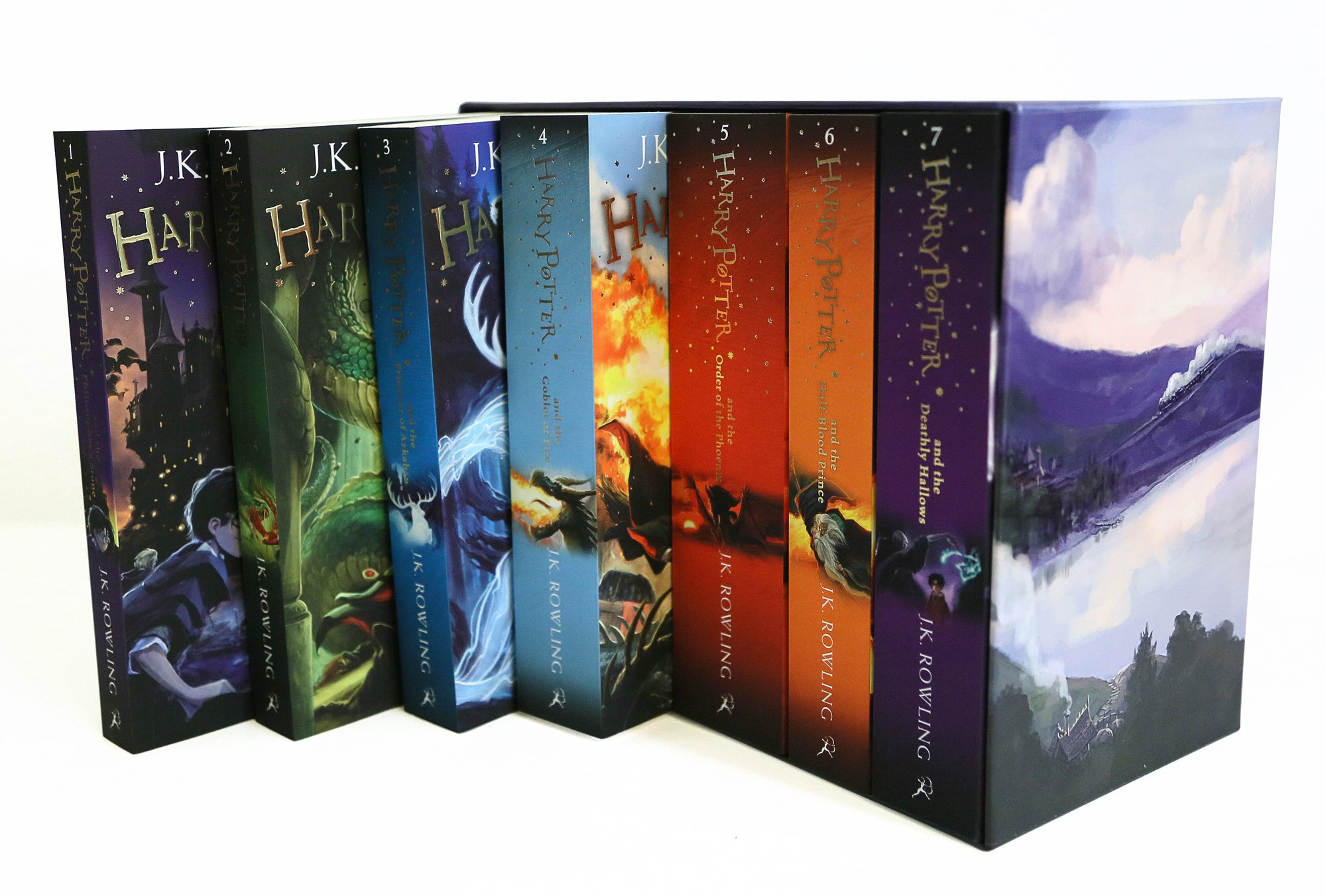 Buy Harry Potter 7 Volume Children's Paperback Boxed Set: Theplete  Collection (set Of 7 Volumes) Book Online At Low Prices In India  Harry  Potter 7