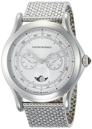 画像にマウスを合わせると拡大されます EMPORIO ARMANI(エンポリオアルマーニ) [エンポリオ アルマーニ スイスメイド] 腕時計 CLASSIC クラッシック ARS4201 正規輸入品 シルバー