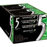 5 Gum Sugar Free Gum, RainSpearmint, 15 Piece Pack (10 Packs) (Tamaño: 15 Sticks (Pack of 10))