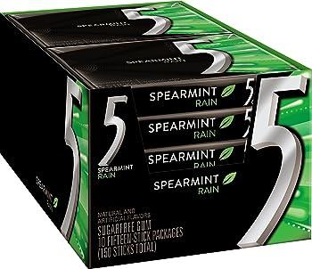 Five Sugar Free Gum RainSpearmint 15 Piece Pack
