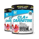 BPI Sports Cla + Carnitine Non-Stimulant Weight Loss Supplement Powder, 300 Gram, 50 Servings (2 Pack) (Watermelon) (Tamaño: Watermelon)