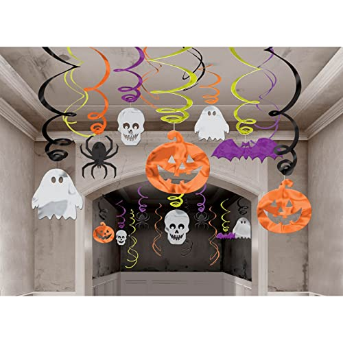 Halloween Hanging Swirl Decorations 30 pack (Standard)