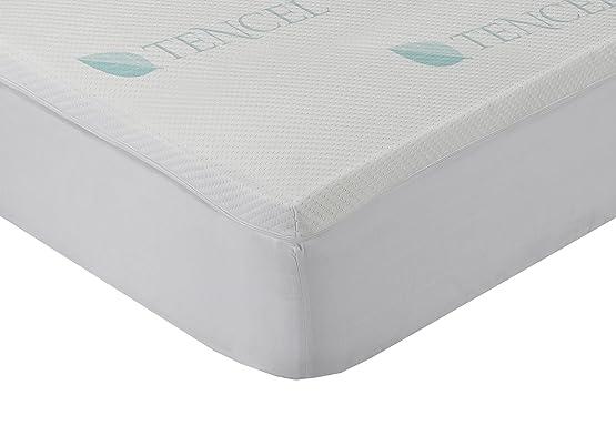 Classic Blanc - Topper / sovramaterasso viscoelastico Lyocell comfort plus, durezza medio-bassa, 200 x 200 cm, altezza 4 cm, letto da 200
