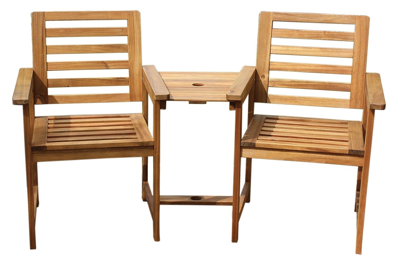 Gartenbank Tisch Holzbank Balkonset Gartenstuhl Lovechair Sitzbank Holz 2-sitzer Companion Bank kaufen
