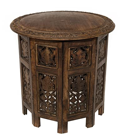 Generic aipur Solid Wood Hand Carved Accent Coffee Table