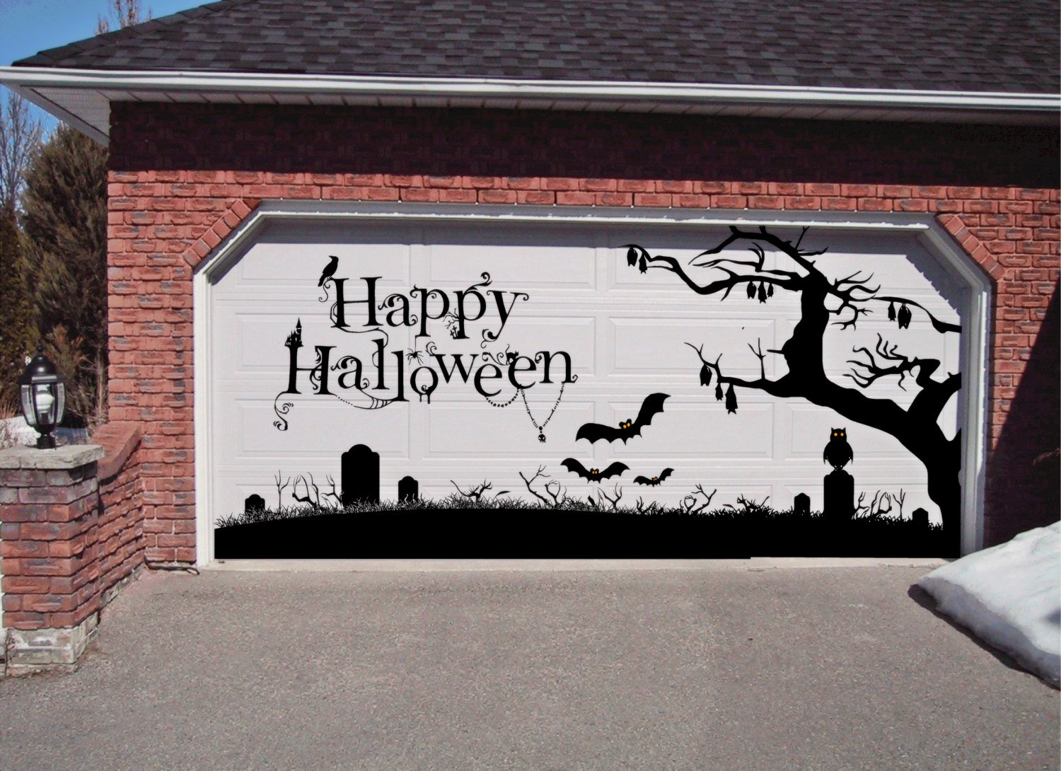 Halloween garage door magnets - Happy Halloween Garage Door Decoration Holiday Xtra Large Vinyl Decal Removeable This Decal Is 72 Tall Your Decals Will Be Shipped In Colors Shown