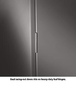 Tennsco 4218 24 Gauge Steel Standard Welded Counter High Cabinet, 2 Shelves, 150 lbs Capacity per Shelf, 36 Width x 42 Height x 18 Depth, Black