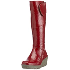 Fly London Womens Yule, Red boots