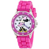 Disney Girl's Quartz Metal and Rubber Watch, Color:Pink (Model: MN1157) (Color: Pink)