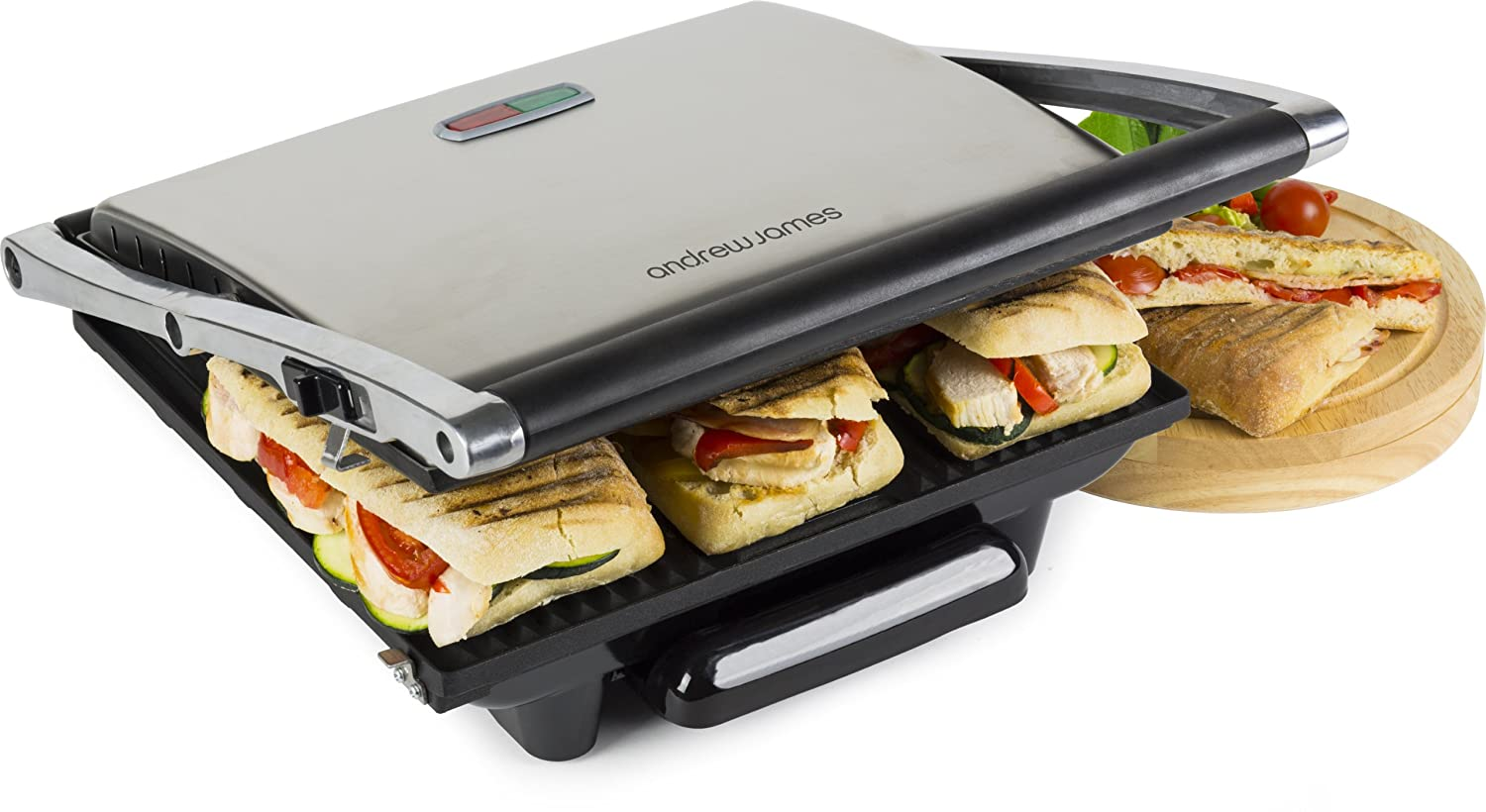 The Andrew James Panini Sandwich Press costs just under £30 and could be an excellent addition to your kitchen.