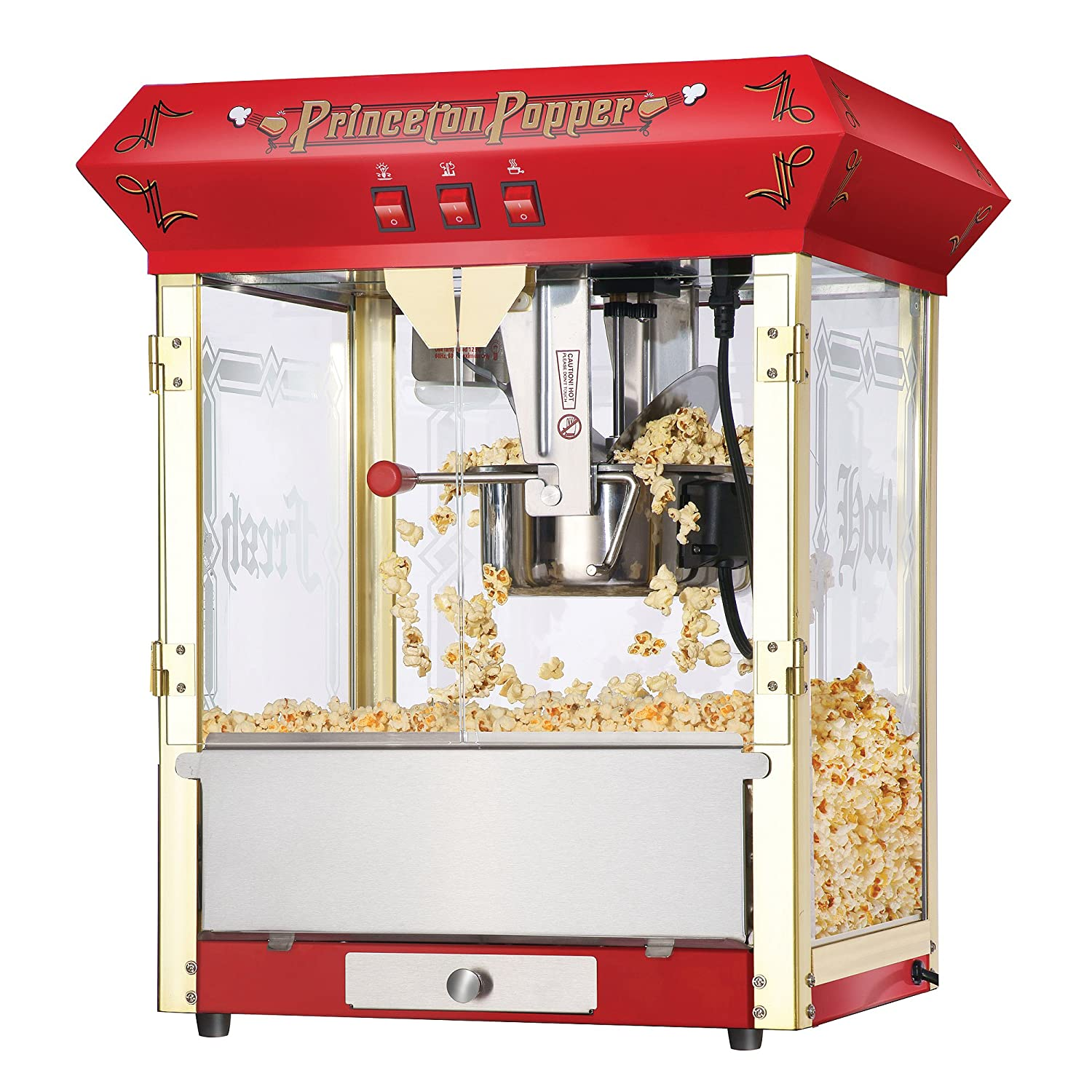 Awesome Great Northern Popcorn Red Princeton 8 oz Ounce Bar Style Antique Popcorn Machine
