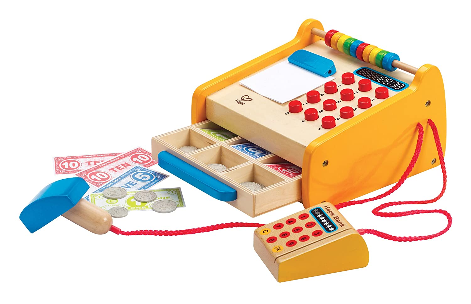 hape toy cash register wood