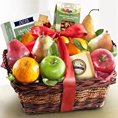 Fruit Cheese and Nuts Delight Fruit Basket