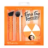 Real Techniques Cruelty Free Fresh Face Favorites Set, Synthetic Bristles, Includes: BB/CC, Contour & Detailing Brushes, and Wedge Sponges