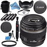 Canon EF-S 60mm f/2.8 Macro USM Lens 0284B002 + 52mm Macro Close Up Kit + 52mm UV Filter + Lens Cleaning Kit + Lens Pouch + Lens Pen Cleaner + 52mm Tulip Lens Hood Bundle