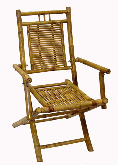 Bamboo Folding Dining Arm Chair Outdoor Patio Furniture